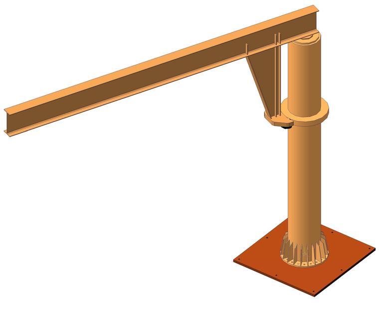 Консольный стационарный ручной кран